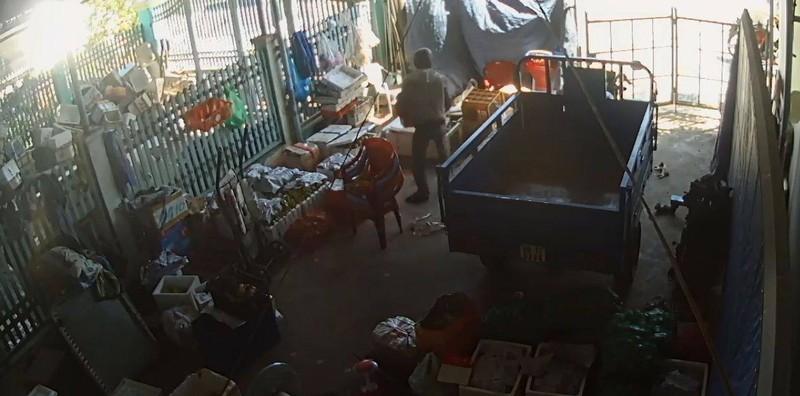 Bị truy đuổi, kẻ trộm bị xe tải tông trúng - ảnh 1