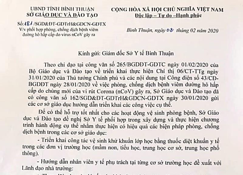 Học sinh các cấp ở Bình Thuận tạm nghỉ 1 tuần - ảnh 1