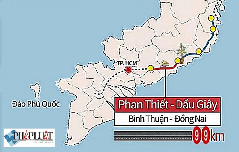 Tháng 8 khởi công cao tốc Phan Thiết - Dầu Giây - ảnh 1