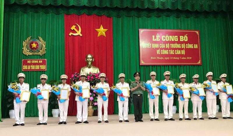 Điều động, bổ nhiệm nhiều vị trí mới ở Công an Bình Thuận - ảnh 1