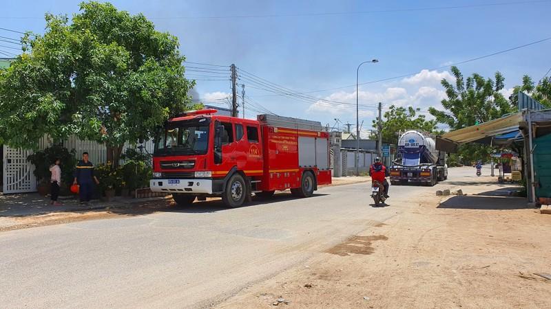 Cháy khu vực tiếp nhiên liệu sân bay quân sự Thành Sơn - ảnh 2