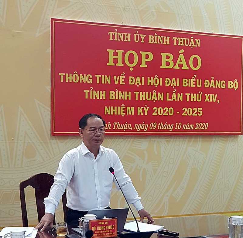 Bình Thuận thông tin về nhân sự, tố cáo... trước Đại hội - ảnh 2