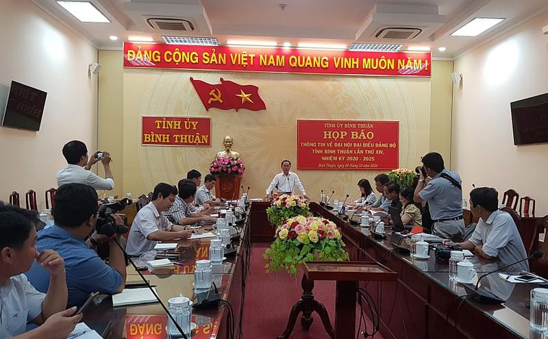 Bình Thuận thông tin về nhân sự, tố cáo... trước Đại hội - ảnh 1