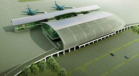 1.500 tỉ đồng xây nhà ga sân bay hình sừng trâu - ảnh 1
