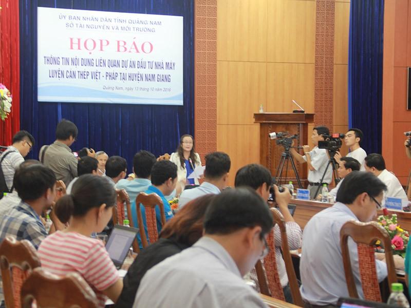 Họp báo về việc di dời Nhà máy thép Việt Pháp - ảnh 1