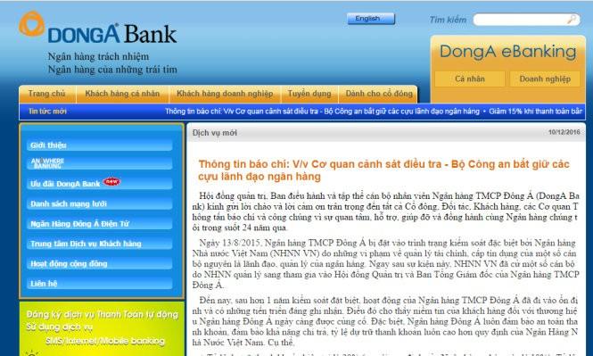 Ông Trần Phương Bình, nguyên TGĐ DongA Bank bị bắt giữ - ảnh 2