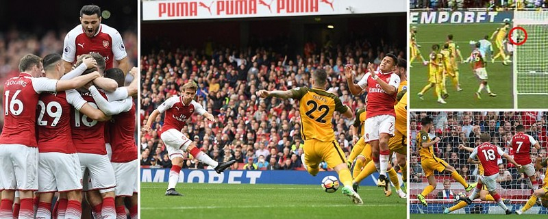 Thắng dễ Brighton, Arsenal trở lại cuộc đua vô địch - ảnh 1