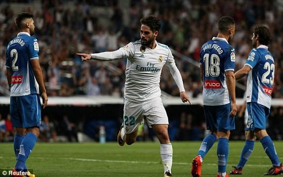 Nhờ Isco, Real Madrid thắng trận đầu tiên trên sân nhà - ảnh 1
