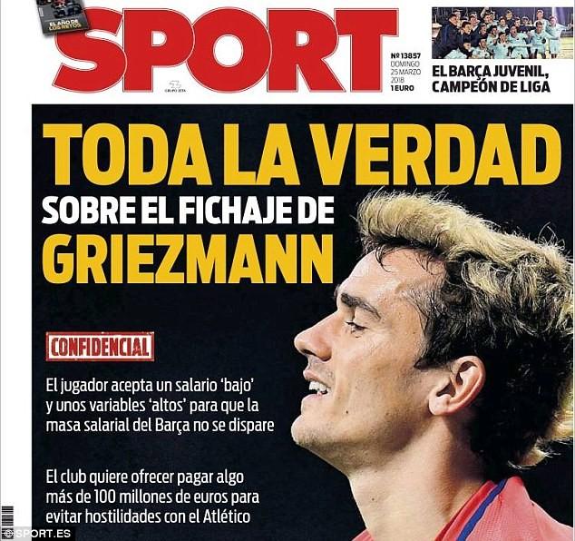 Bỏ MU, Griezmann đã sẵn sàng gia nhập Barcelona - ảnh 1