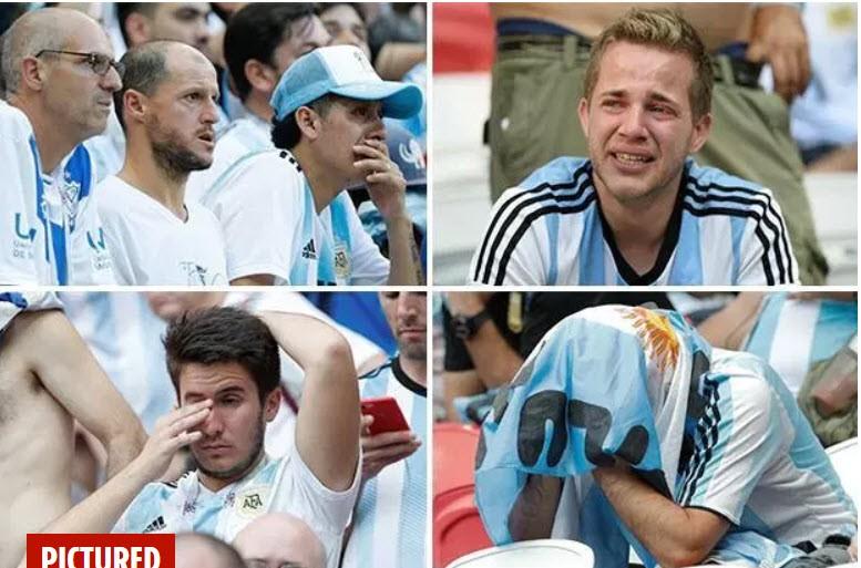 Fan khóc hết nước mắt vì Argentina và Messi chia tay World Cup - ảnh 1