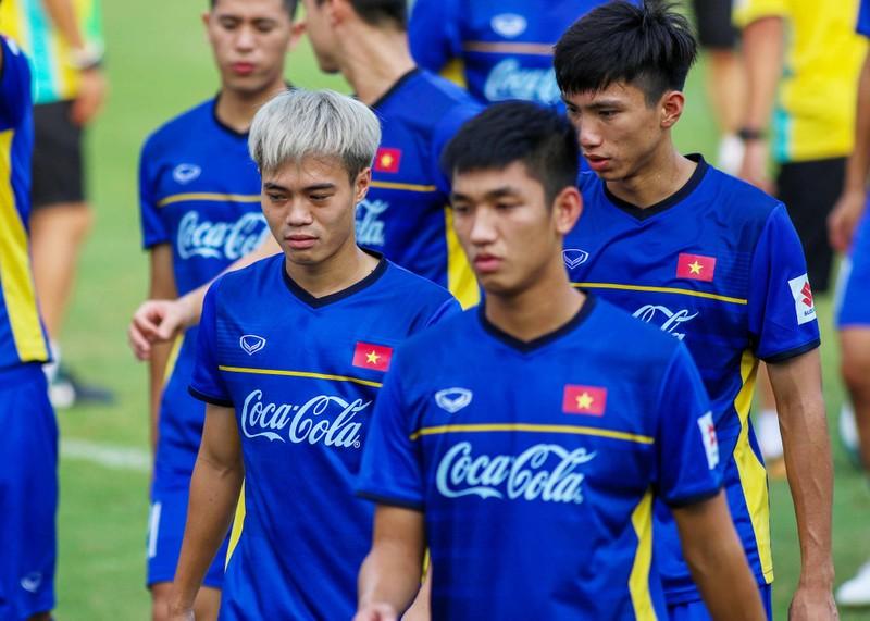 U-23 Việt Nam tập luyện hăng say chờ tái đấu U-23 Uzbekistan - ảnh 9