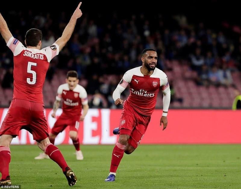 Siêu phẩm của Lacazette giúp Arsenal đả bại Napoli trên đất Ý - ảnh 3