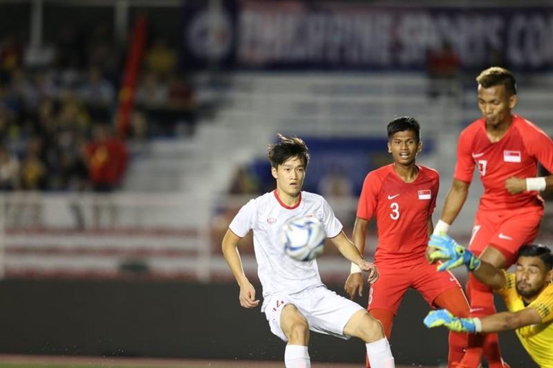 Đức Chinh ghi bàn thắng vàng, U22 Việt Nam thắng khó Singapore - ảnh 16