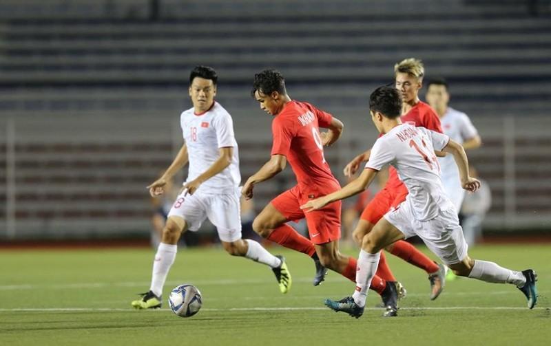 Đức Chinh ghi bàn thắng vàng, U22 Việt Nam thắng khó Singapore - ảnh 9