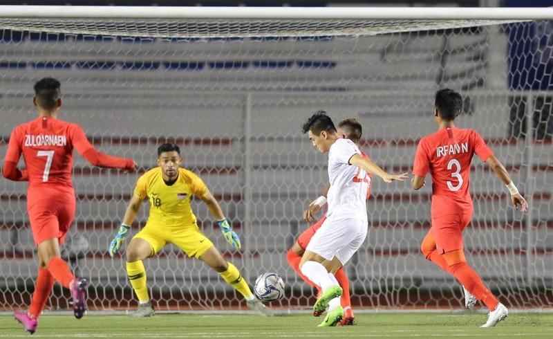Đức Chinh ghi bàn thắng vàng, U22 Việt Nam thắng khó Singapore - ảnh 6