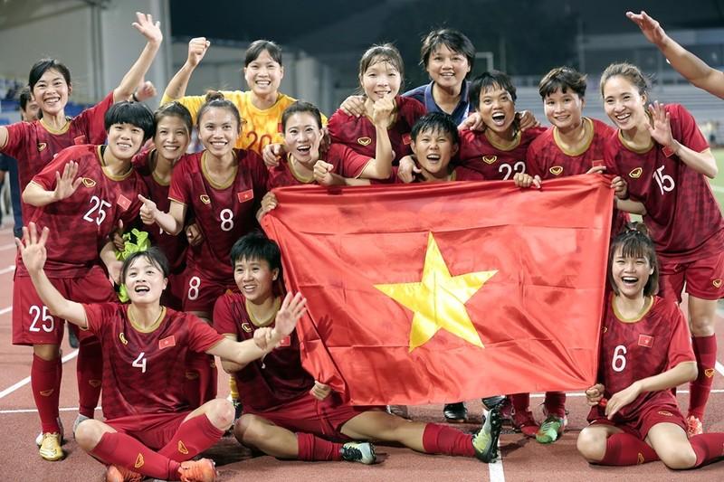 Chùm ảnh tuyển nữ Việt Nam giành HCV SEA Games đầy cảm xúc - ảnh 26