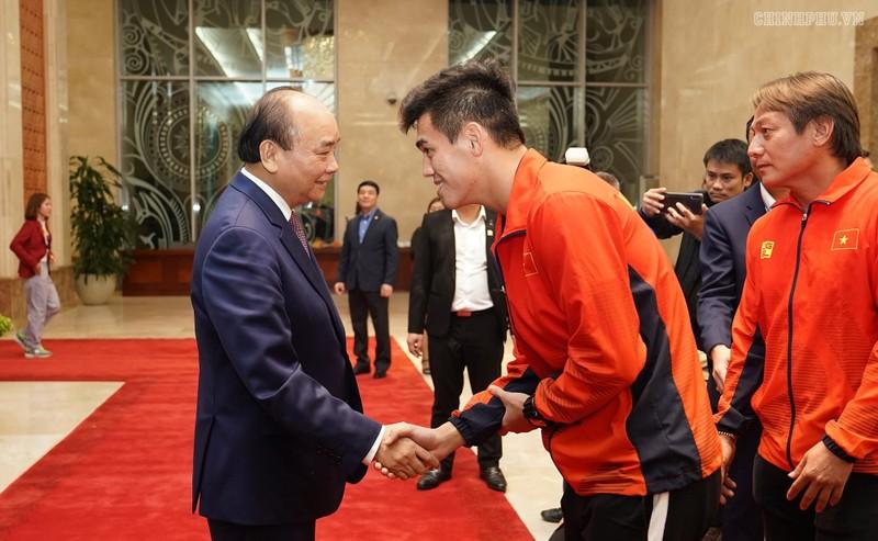Hai đội tuyển VN dự lễ mừng công của Thủ tướng - ảnh 4
