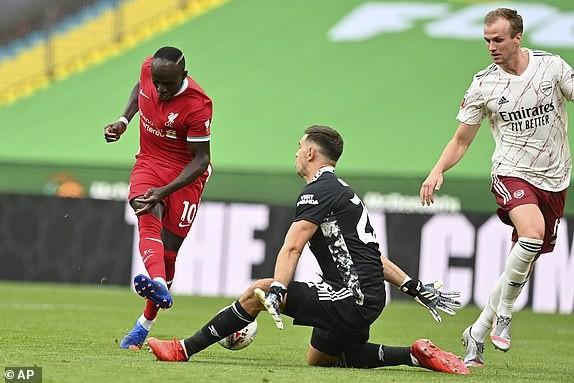 Aubameyang rực sáng, Arsenal hạ Liverpool vô địch siêu cúp Anh - ảnh 4