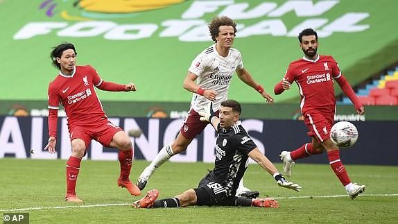 Aubameyang rực sáng, Arsenal hạ Liverpool vô địch siêu cúp Anh - ảnh 5
