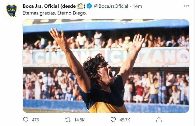 Thế giới tiếc thương huyền thoại Maradona: Messi nói gì? - ảnh 2