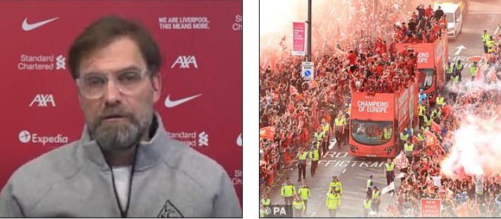 Lạ lùng 2 CLB diễu hành ăn mừng ngôi vương Premier League - ảnh 1