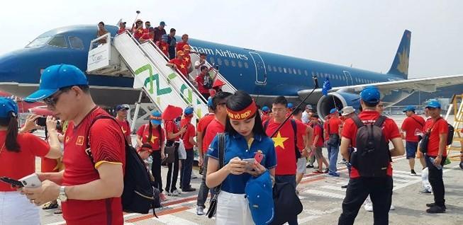 7 chuyến bay thẳng đến Philippines cổ vũ U-22 Việt Nam - ảnh 1