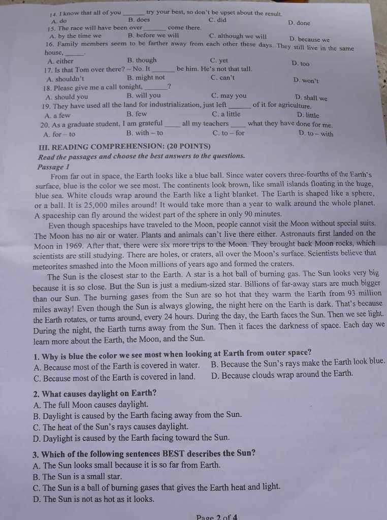Thí sinh thở phào với đề tiếng Anh vào Trung học Thực hành - ảnh 3