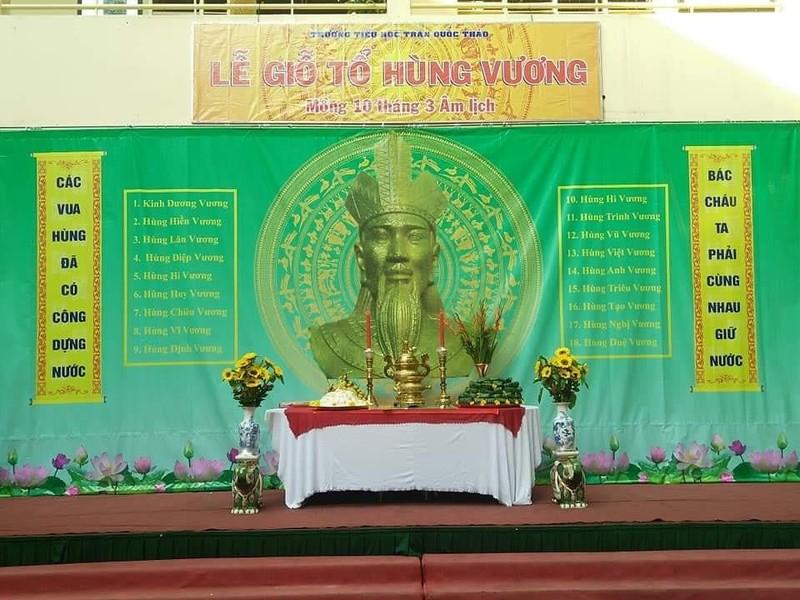Nhiều trường học tổ chức trang trọng lễ Giỗ tổ Hùng Vương  - ảnh 1
