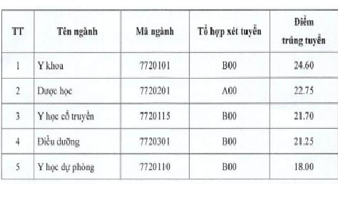 Điểm chuẩn cao nhất Đại học Y Dược Thái Bình là 24,6 điểm - ảnh 1