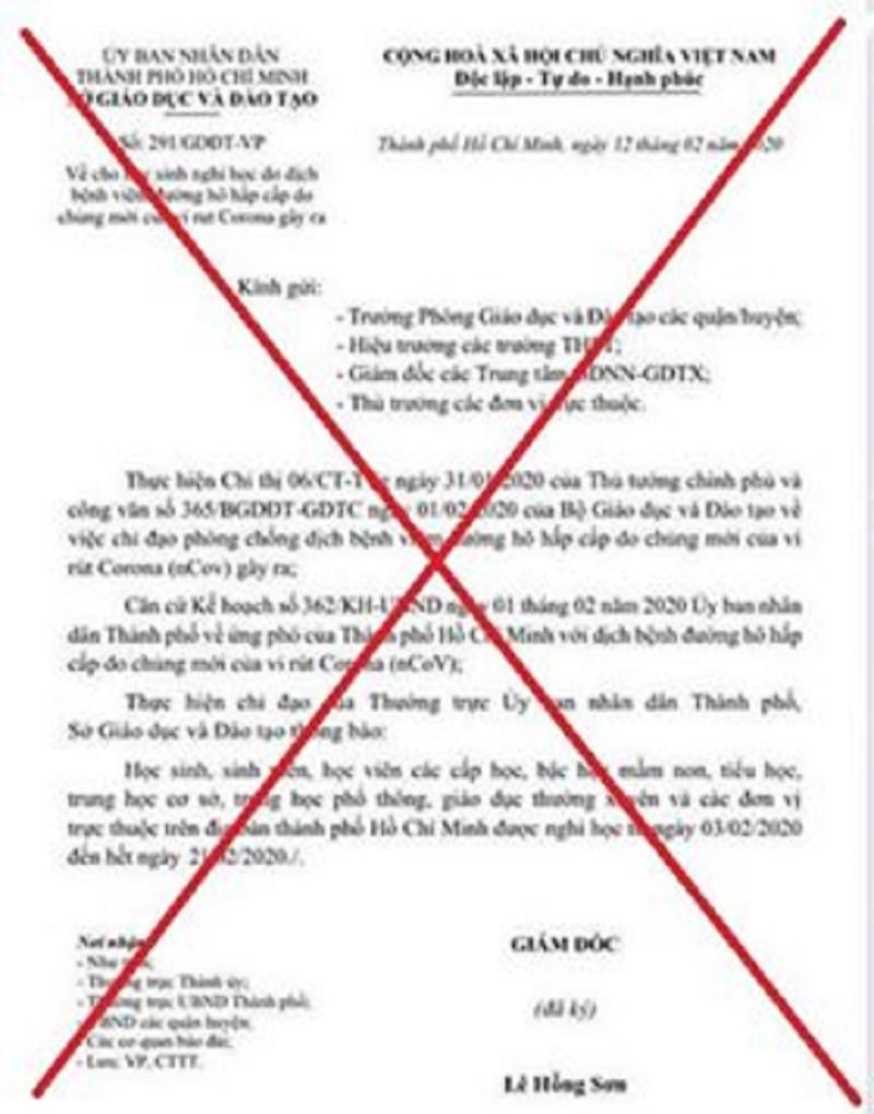 TP.HCM: Xuất hiện văn bản giả cho học sinh nghỉ học - ảnh 1