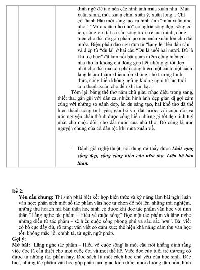 Gợi ý bài làm đề thi môn Văn tuyển sinh vào lớp 10 - ảnh 11