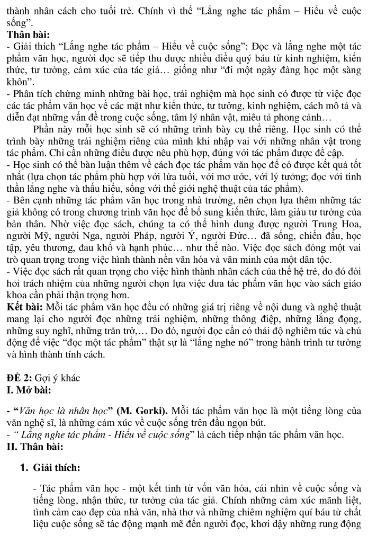 Gợi ý bài làm đề thi môn Văn tuyển sinh vào lớp 10 - ảnh 12