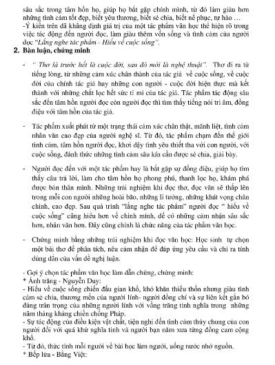 Gợi ý bài làm đề thi môn Văn tuyển sinh vào lớp 10 - ảnh 13