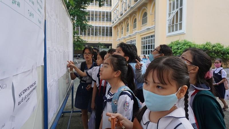 Gần 4000 sĩ tử nhí tranh suất vào lớp 6 trường Trần Đại Nghĩa - ảnh 1