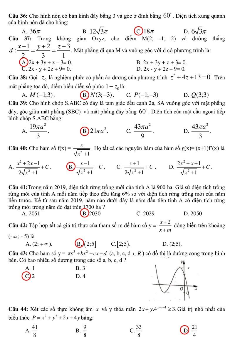 Gợi ý bài giải môn Toán - ảnh 4