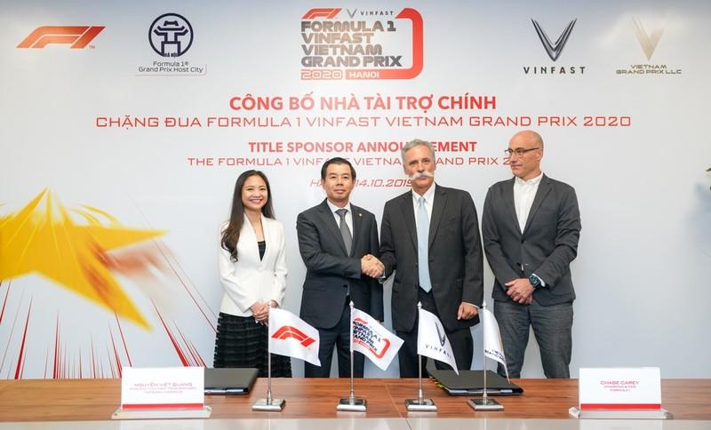 VinFast là nhà tài trợ chính của chặng đua F1 tại Việt Nam - ảnh 1