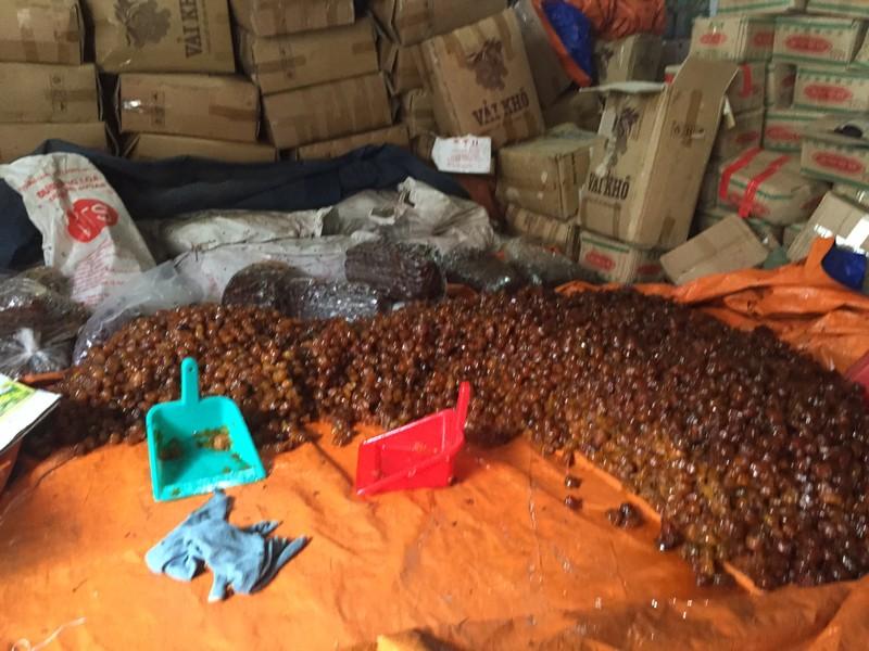 Hơn 10 tấn mứt, nho, hạt dẻ không nguồn gốc - ảnh 1