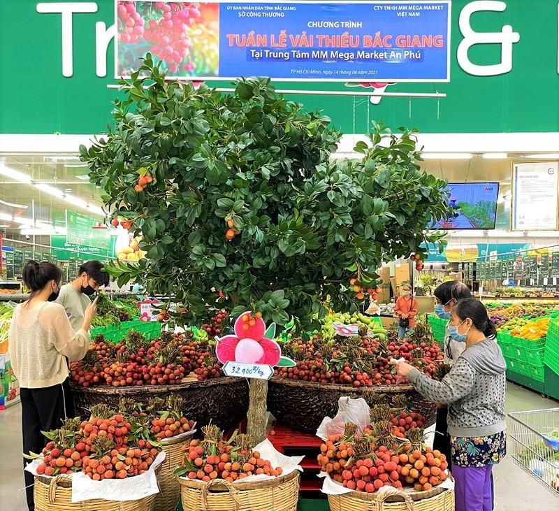 Một siêu thị bán vải thiều Bắc Giang với giá không lợi nhuận - ảnh 1