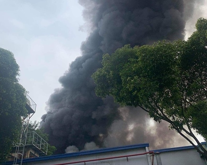 Cháy lớn tại Khu chế xuất Linh Trung 1, TP.HCM - ảnh 1