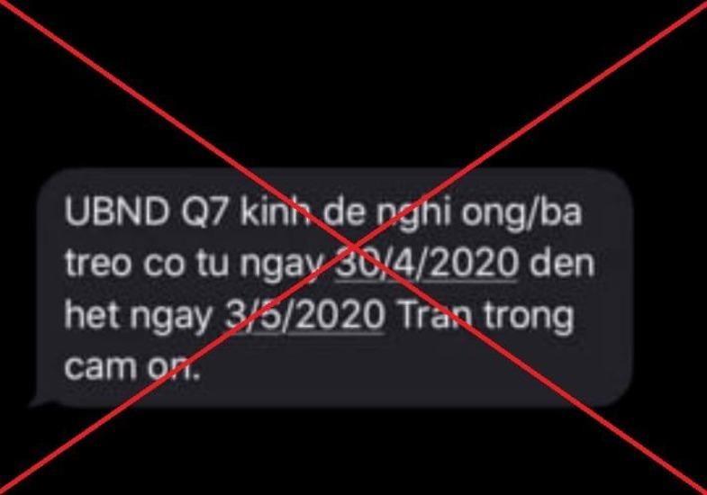 Phạt người đăng tin UBND quận 7 đề nghị người dân
