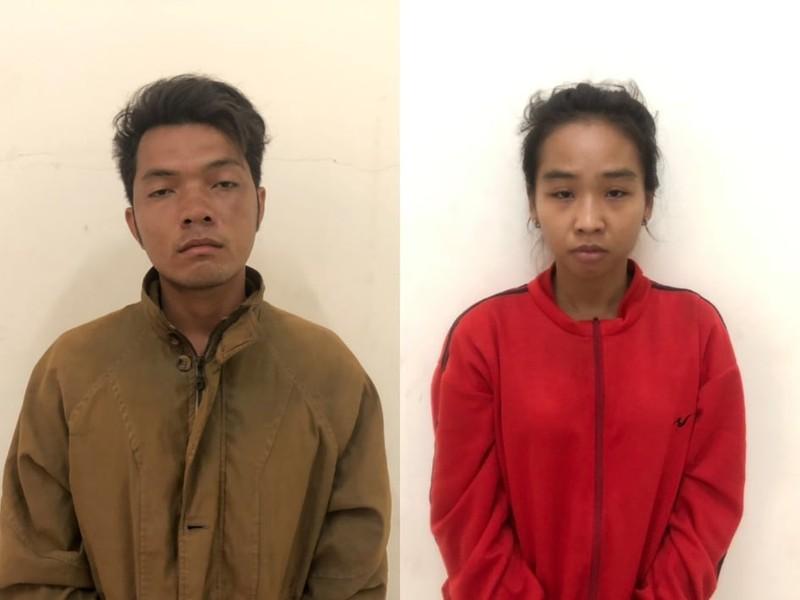 Đôi nam nữ dẫn theo hai con nhỏ đi cướp giật tài sản - ảnh 1