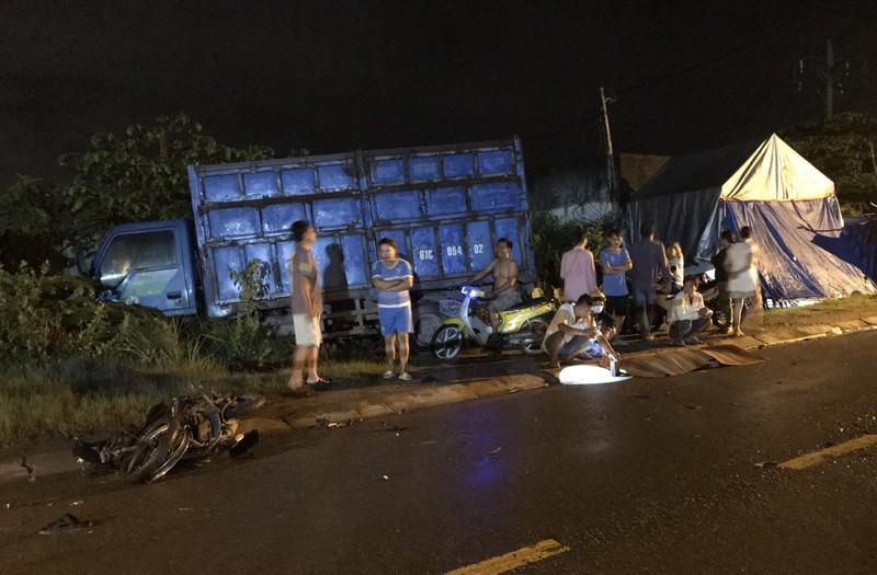 2 xe máy tông trực diện ở quận 9 làm 2 người thương vong - ảnh 1