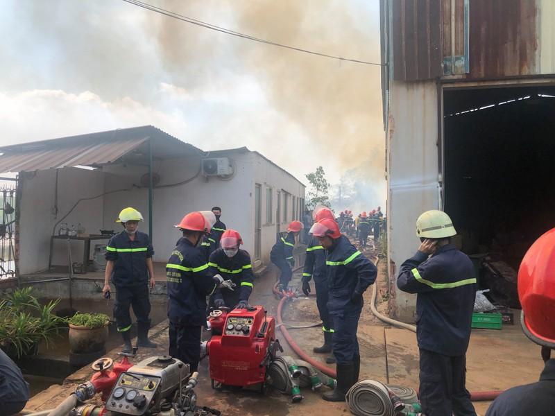 Cảnh sát ngăn đám cháy từ bãi phế liệu sang nhà xưởng ở quận 9 - ảnh 1
