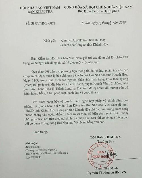 Xác định nhóm người hành hung 2 PV báo Khánh Hòa  - ảnh 1