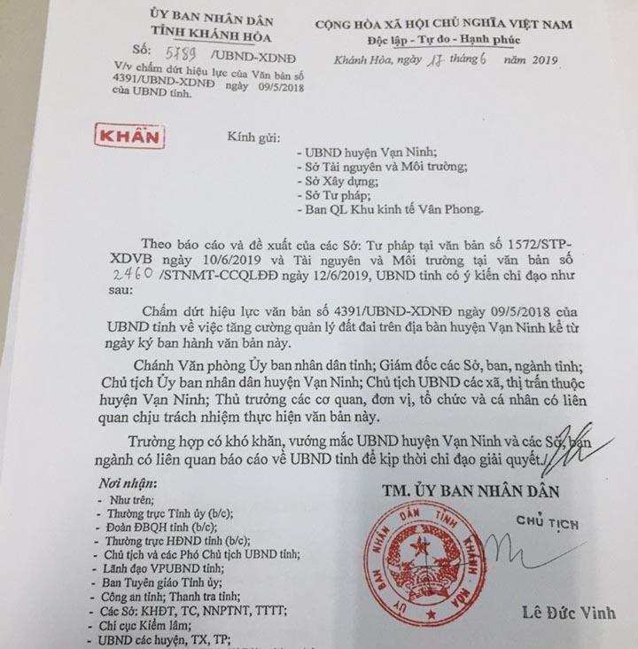 Chính thức dỡ bỏ 'lệnh' cấm giao dịch đất Bắc Vân Phong - ảnh 2