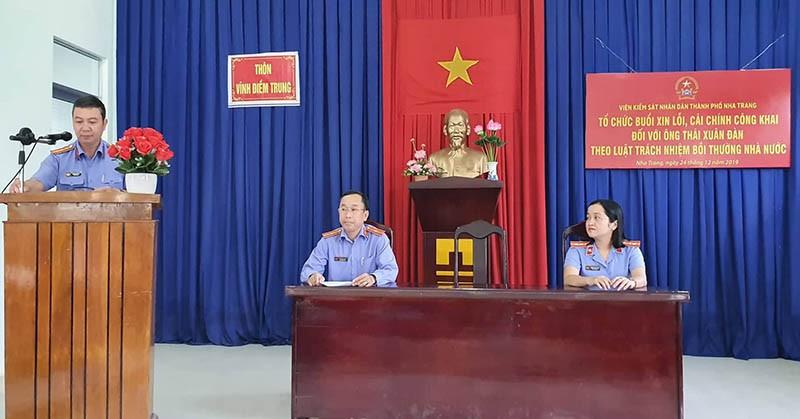 Viện Kiểm sát TP Nha Trang xin lỗi người bị oan 18 năm  - ảnh 2