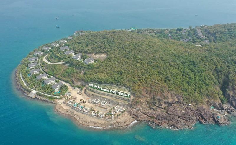 Phạt chủ đầu tư xây dựng không phép trên đảo Hòn Tằm  - ảnh 2