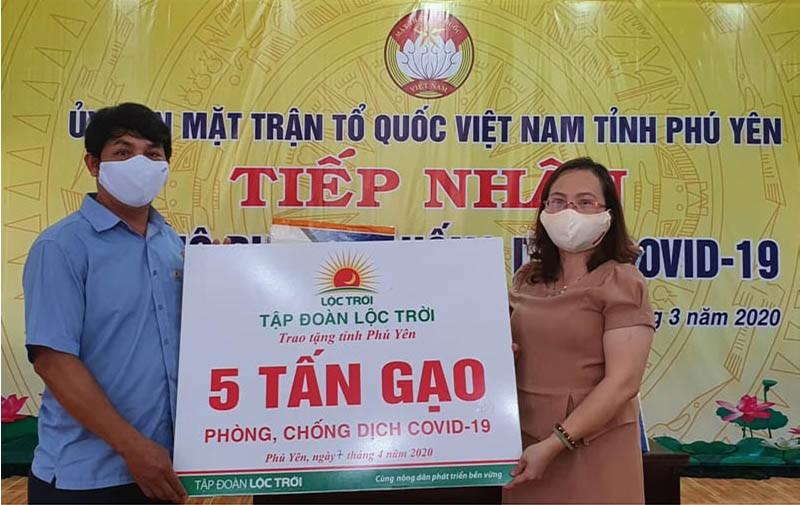 Tập đoàn Lộc Trời hỗ trợ 137 tấn gạo cho các khu cách ly  - ảnh 1