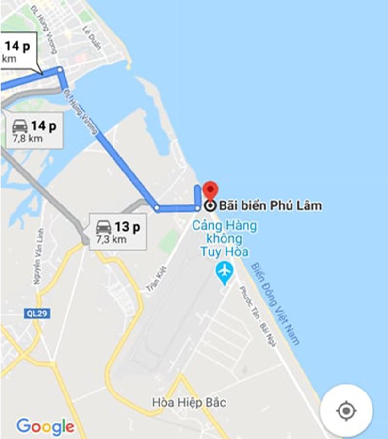 Google Maps sửa thông tin ghi sai về bãi biển Phú Lâm  - ảnh 1