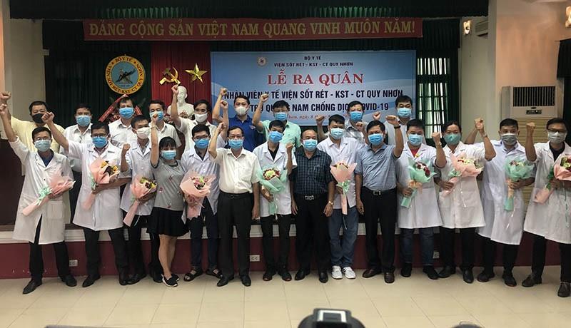 10 nhân viên y tế hỗ trợ Quảng Nam chống dịch COVID-19 - ảnh 1